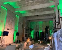 Presentatie set met led spots verlichting bij bijeenkomst nieuwe wijk Blossem in Breda